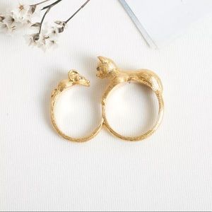 Kate spade house cat double ring